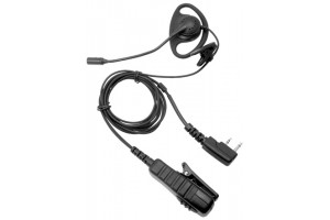 D Shape Earpiece with Boom Mic & PTT