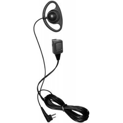 D Shape Earpiece/Microphone