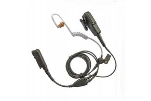 Two wire clear acoustic tube earpiece with PTT microphone MOTOTRBO Multi pin 11ACH2042M7