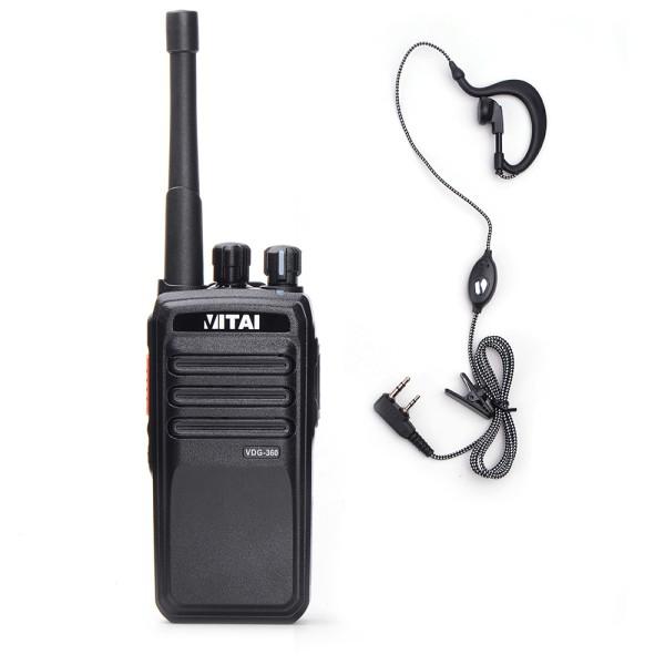 Vitai VDG-360 Digital Radio + G Shape Earpiece/Mic