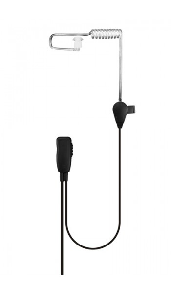 Clear acoustic tube earpiece with microphone for DP3400, DP3600 and DP4000 multi pin