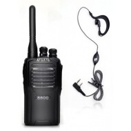 Vitai 8800 +  G Shape Earpiece/Microphone Two Way Radio